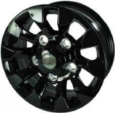 "LAND ROVER DEFENDER SAWTOOTH STYLE ALLOY WHEEL BLACK 16""X 7"""